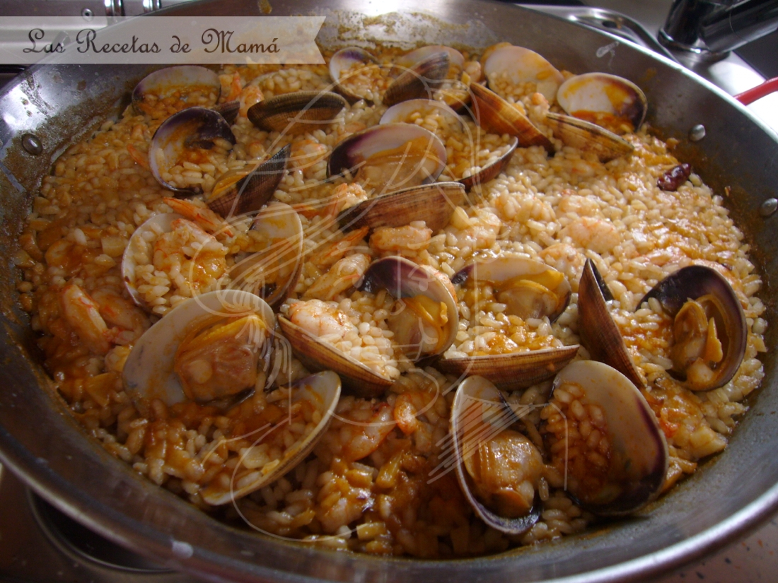 Arroz con gambas y almejas – Video receta