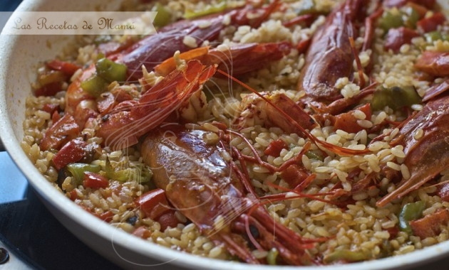 Arroz con carabineros. Video receta.