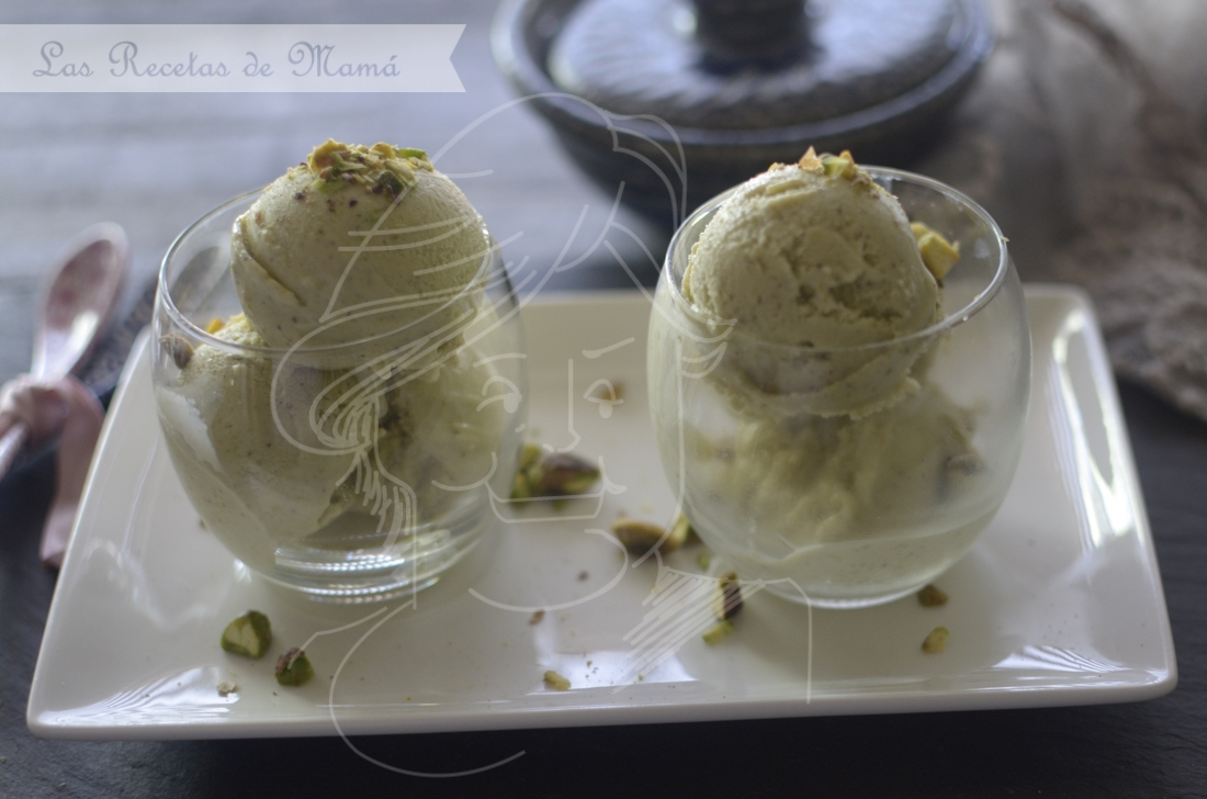 Helado de pistacho. Video receta