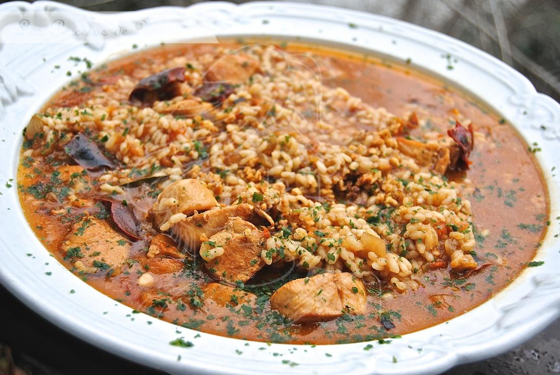 Arroz Caldoso Con Setas Y Pollo arroz caldoso con pollo | las recetas de mamá