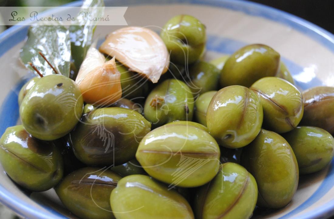 como preparar las aceitunas verdes enteras