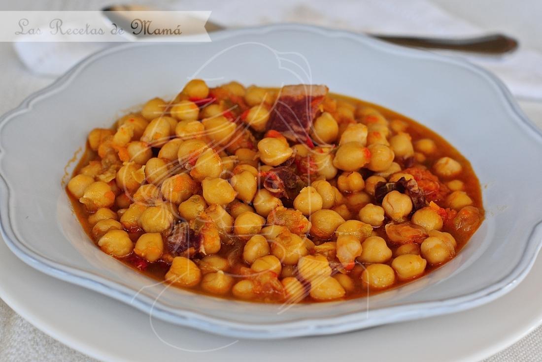 Potaje de garbanzos con paleta ib rica las recetas de mam - Cocido de garbanzos en olla express ...