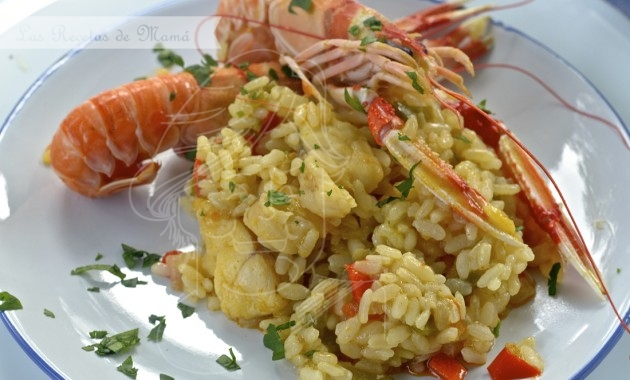 Arroz con rape y cigalas