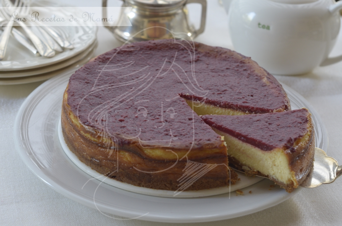 Tarta de queso y chocolate blanco. video receta.