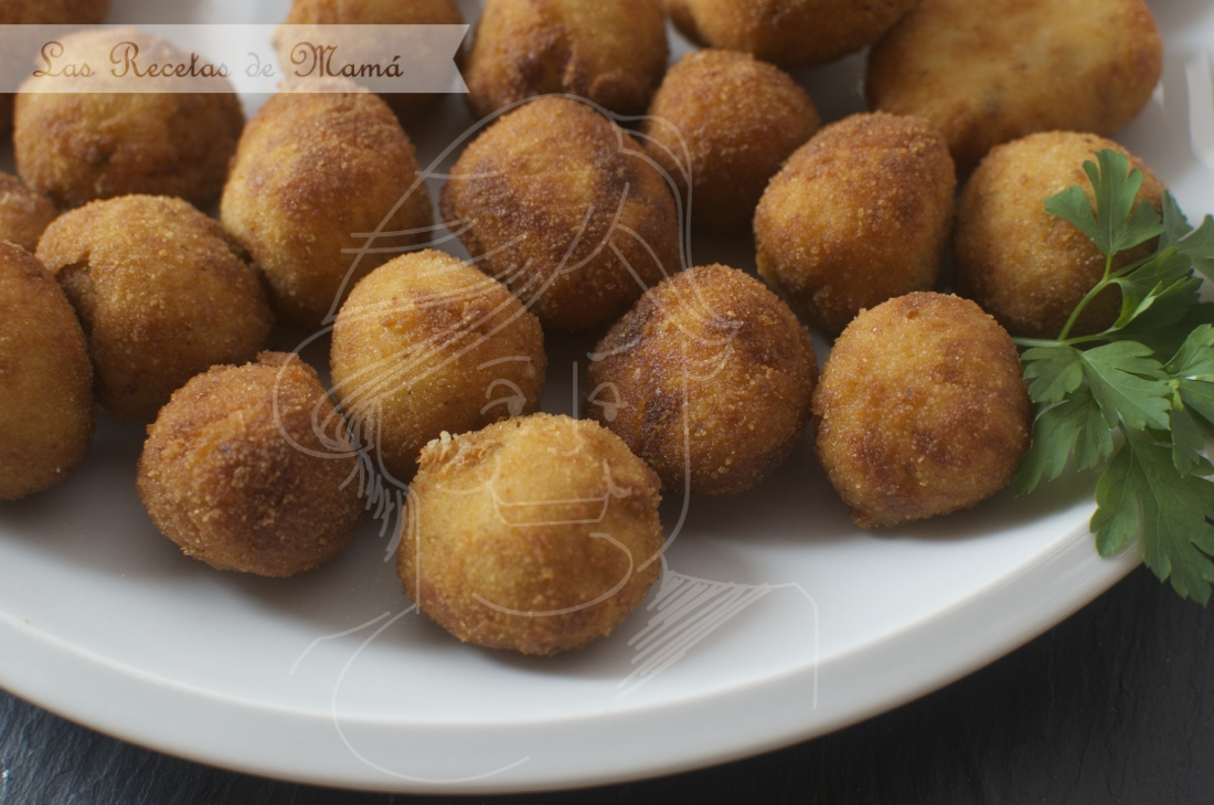 Croquetas de queso y boletus. Video receta
