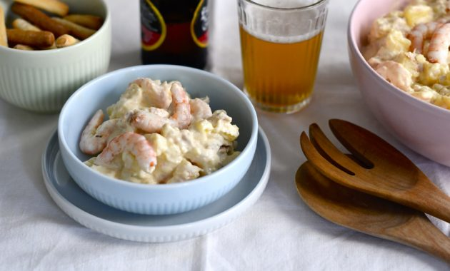 Ensaladilla de gambas. Video receta
